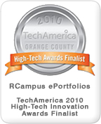 RCampus ePortfolios Named as Finalist for TechAmerica High-Tech Innovation Awards