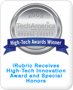 iRubric Receives High-Tech Innovation Award and Special Honors